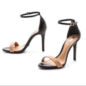 Schutz Cadey Lee Sandals Tan/Black Size8